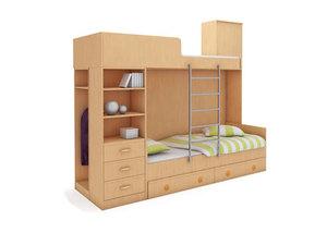 Двухъярусная кровать №76
