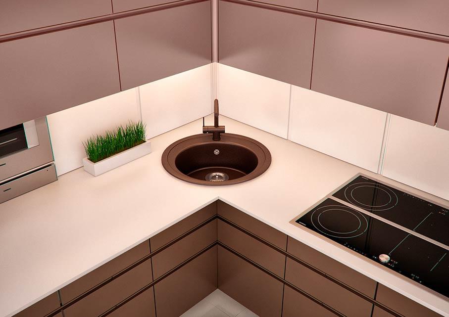Дизайн Угловой Кухни 2021: 137 фото, размеры, идеи мойки в углу