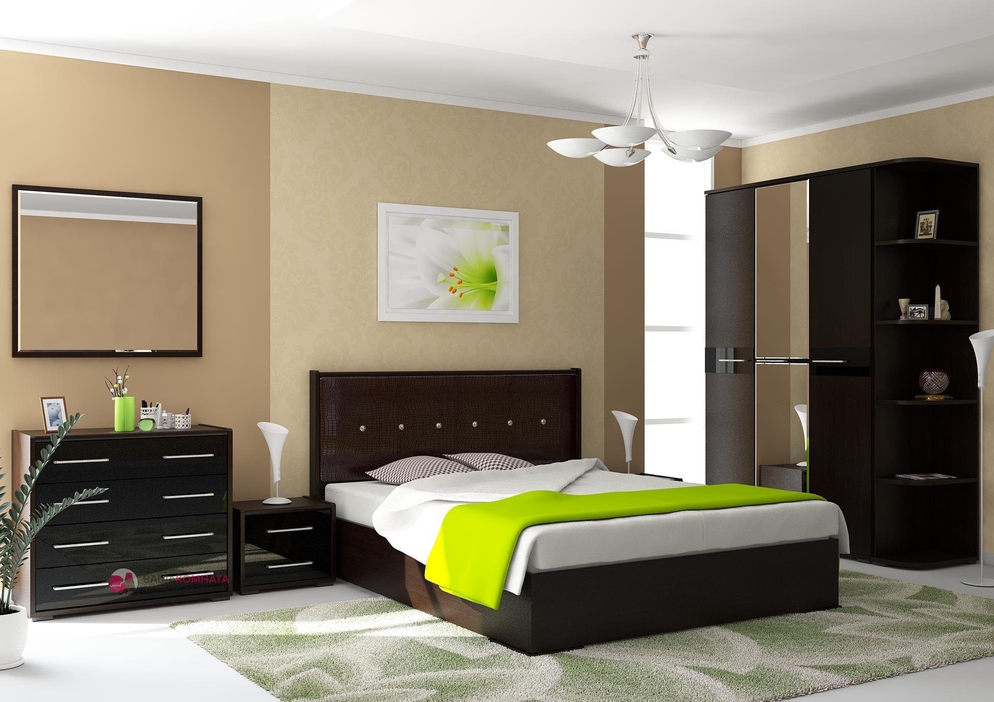дизайн спальной комнаты и гарнитур фото видите