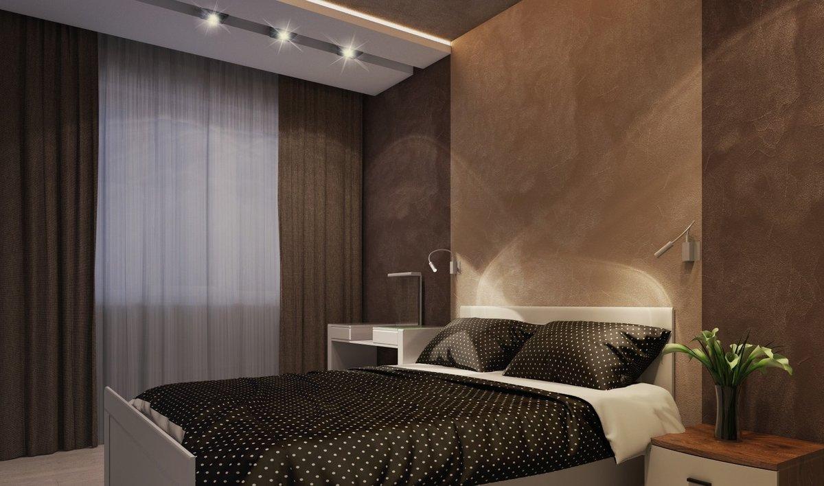 спальня в бело коричневых тонах фото начинать